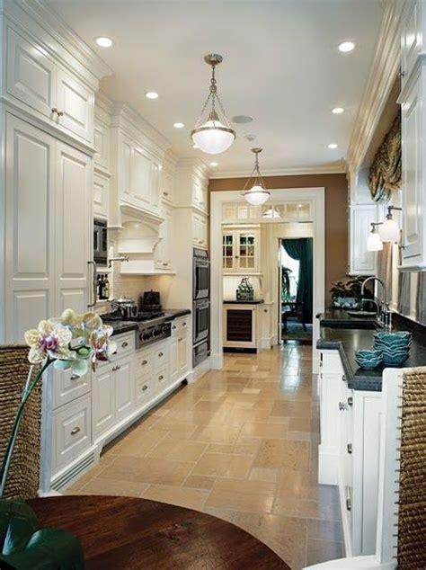 galley kitchen cabinets of different depths work