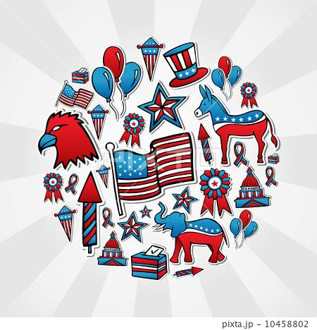 Polls Style Icons by Usa Elections Sketch Style Iconsのイラスト素材 10458802 Pixta
