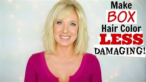 which hair color is less damaging make box hair color less damaging quick tip youtube