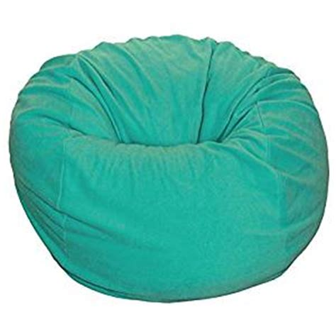 Turquoise Bean Bag Chair by Ahh Products Teal Turquoise Anti Pill Fleece Washable Large Bean Bag Chair Toys