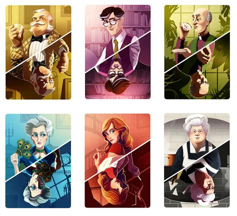 clue room names cluedo characters redesigns roland the illustrator