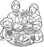 family dinner coloring page free easter coloring pages coloring easter pictures
