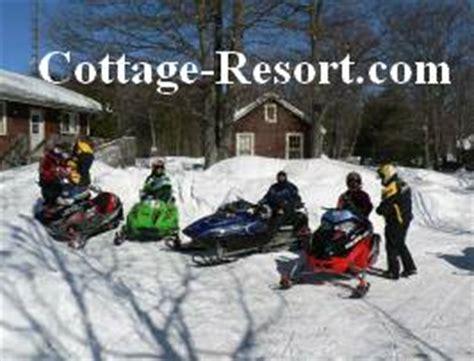 snowmobile at ontario resorts cottage rentals ontario