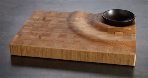 cool cutting board designs a wave wandering through massive wood furniture design