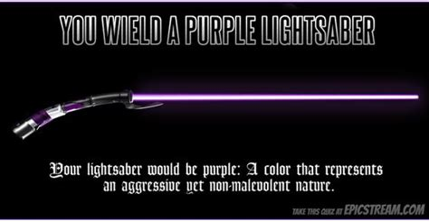 what is my lightsaber color colors purple and quizes on