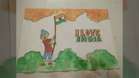 drawing themes for independence day indian flag patriotic drawing idea for kids how to