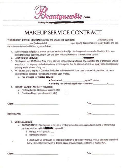 makeup artist business plan template makeup service contract sickening no