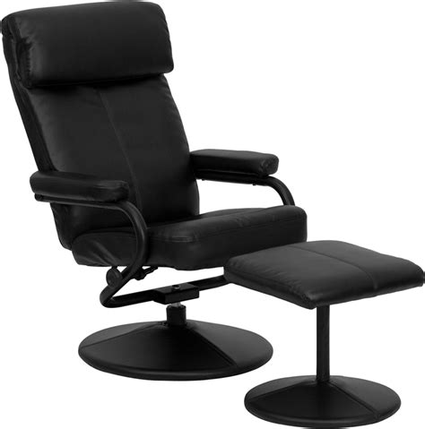 Modern Leather Recliner Chair by Modern Leather Recliner Lounge Chair Ottoman Set Ebay