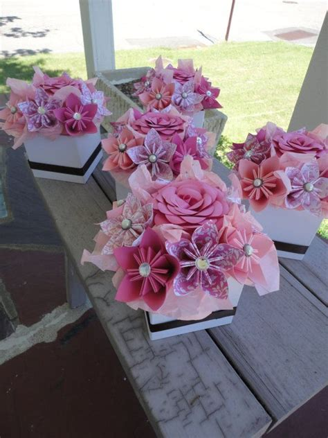How To Make Paper Flower Centerpieces - 25 best ideas about paper flower centerpieces on