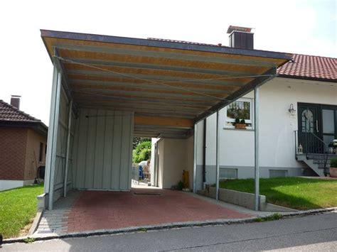 carport stahl carport aus verzinktem stahl mit trapezblech dach und
