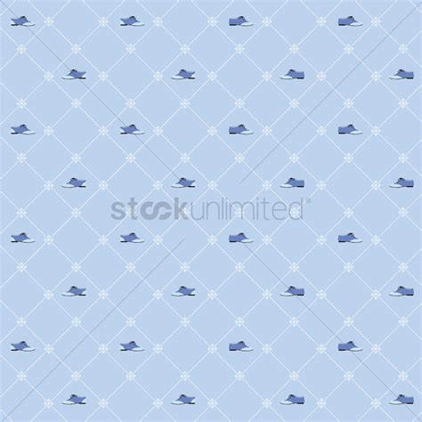 pattern over background seamless shoe pattern over blue background vector image