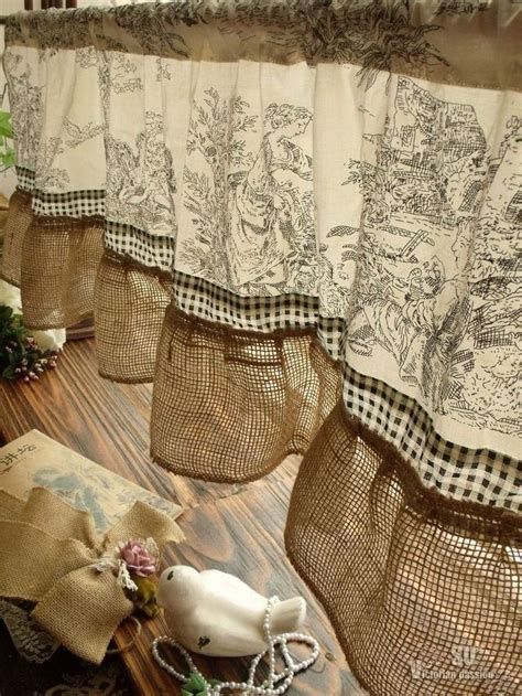 burlap country curtains 17 best ideas about burlap valance on pinterest country