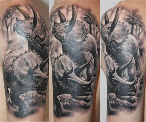 triceratops tattoo graphic triceratops cpouple realistic best