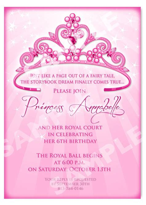 Invitation Cards For Princess Birthday free printable princess birthday invitation templates