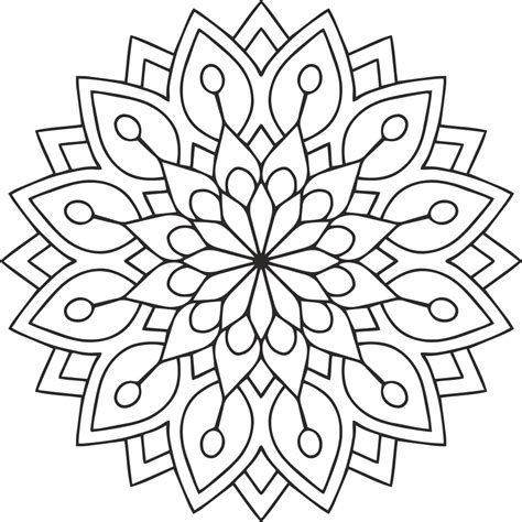 puzzle pattern cdr mandala des flower coreldraw vector cdr file free
