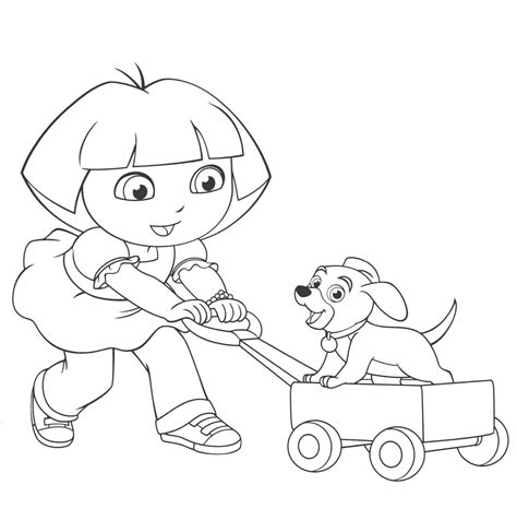 dora puppy coloring page 92 coloring pages of little dogs dog and cat