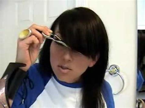 how to cut side swept bangs at home do it yourself how to cut side swept bangs fringe kandee johnson