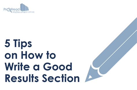 how to write results section discussing results dissertation