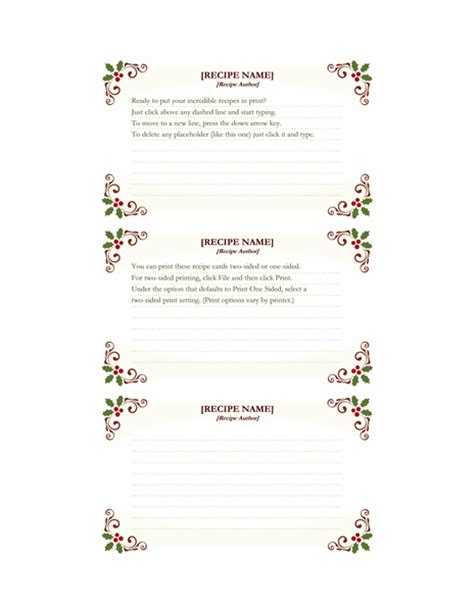 avery template 5388 recipe cards retro design works with avery 5388
