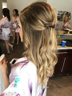 Bridesmaid Hair Half Up Curls by Bridal Or Bridesmaids Hairstyle Half Up Half