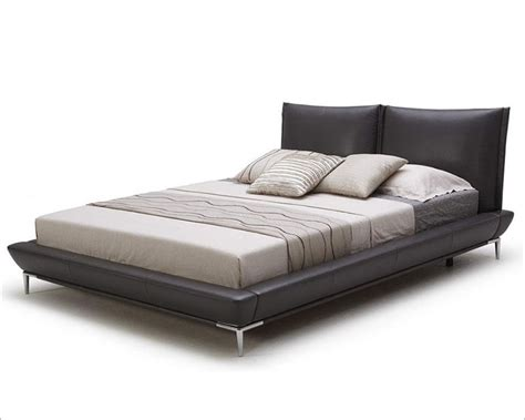 grey platform bed modern grey full leather platform bed 44b179bd