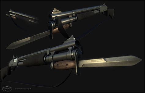 custom bayonet fixed custom mossberg 590 w bayonet and sling image