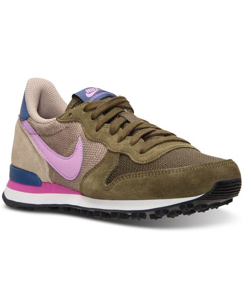 Sepatu Nike Lunarlon Lunarepic Low Green Casual Running Sepatu Pria nike s internationalist casual sneakers from finish