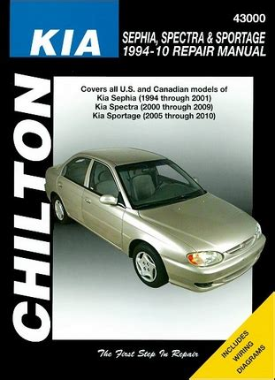 kia shop manual kia sephia spectra sportage repair manual 1994 2010