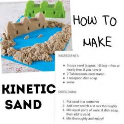 How To Make Sand On Paper - 25 best ideas about kinetic sand on diy