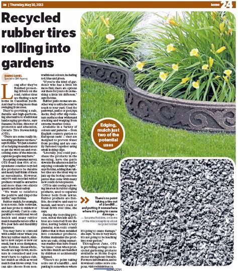 rolling rubber st recycled rubber tires rolling into gardens ots featured
