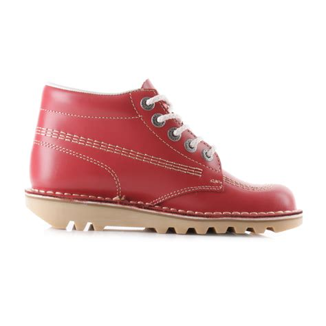 Kickers Boots Size 39 44 womens kickers kick hi nat leather lace up ankle boots sz size ebay