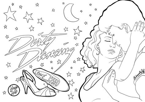 dirty dancing coloring pages coloring pages
