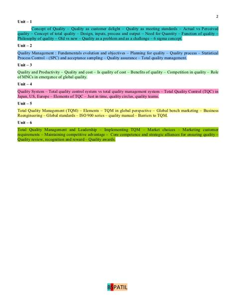 Tqm Notes For Mba by Quality Management Book Bec Doms Bagalkot Mba