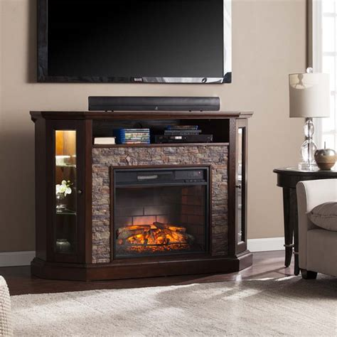 Southern Enterprises Redden Corner Electric Fireplace Tv Electric Corner Fireplace Tv Stand