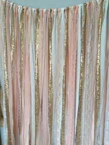 Peach pink amp gold sparkle sequin fabric backdrop with lace wedding