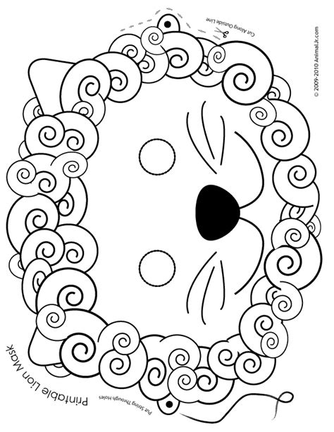 printable animal masks to color printable lion mask coloring page woo jr kids activities