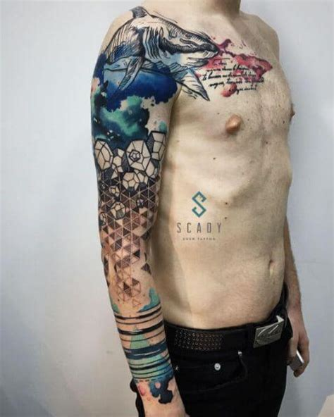 watercolor tattoo for men the 112 best watercolor tattoos for improb