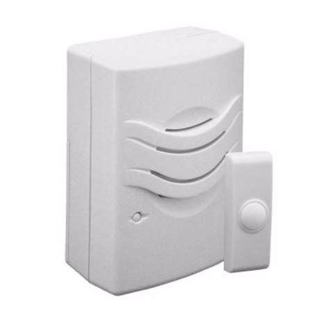 iq america wireless doorbell chime with 2 tone white