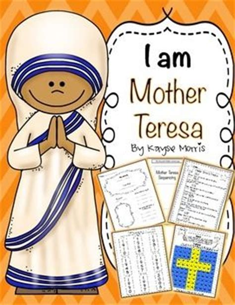 mother teresa saint teresa mother teresa activities women s history month 2014 clipart 81