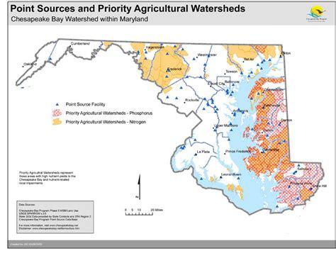 maryland agriculture map maps chesapeake bay program