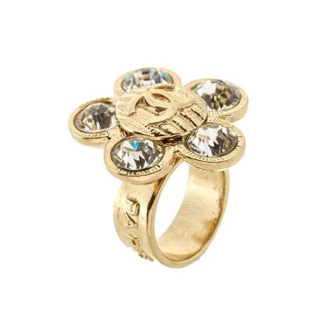 chanel flower ring size 6 5