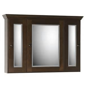 36 quot strasser tri view surface mount medicine cabinet