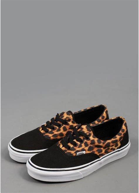 Vans Era Leopard Black vans era leopard print shoes black