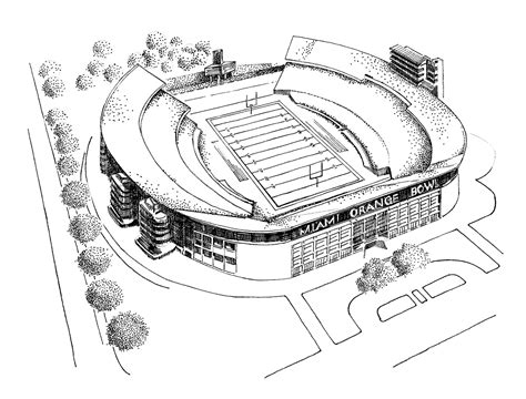 coloring pages football stadium 1966 miami hurricanes football team