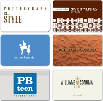 William Sonoma Gift Card - williams sonoma inc business sales gift cards