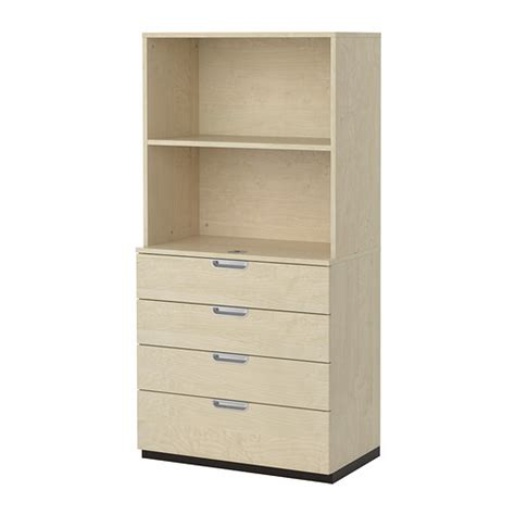Ikea Stoarge Galant Storage Combination With Drawers Birch Veneer Ikea