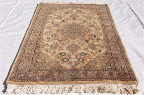 rra 3x5 indo kashan beige light blue carpet