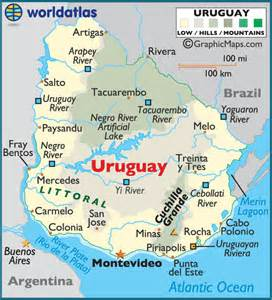 uruguay large color map