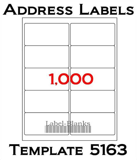 Free Blank Address Labels