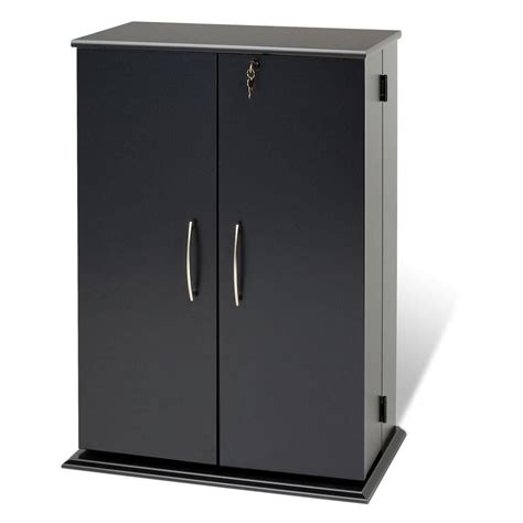 locking storage cabinet home depot prepac black locking media storage cabinet the home